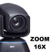 PTZ-камера с 16-кратным увеличением